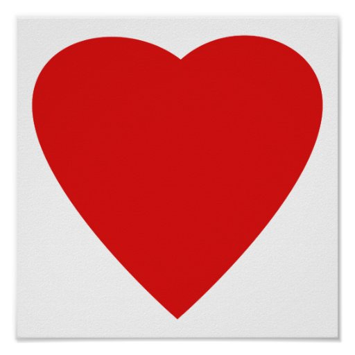 Diseño rojo y blanco del corazón del amor impresiones