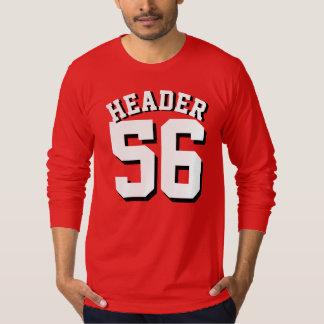 Diseño rojo y blanco del jersey de los deportes de
