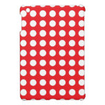 Diseño rojo y blanco del lunar iPad mini protectores