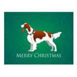 Diseño rojo y blanco irlandés de las Felices Tarjeta Postal