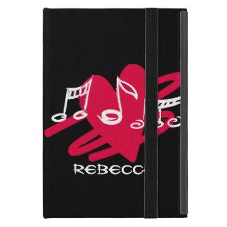 Diseño rojo y blanco personalizado de la música iPad mini fundas