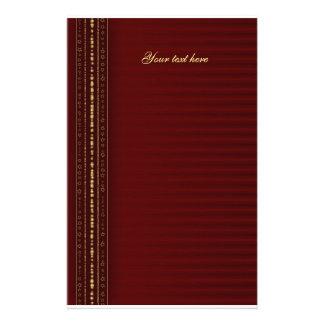 Diseño rojo y de oro festivo papelería de diseño