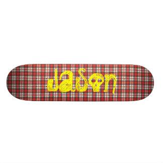 Diseño rojo y negro blanco de la materia textil de patín personalizado