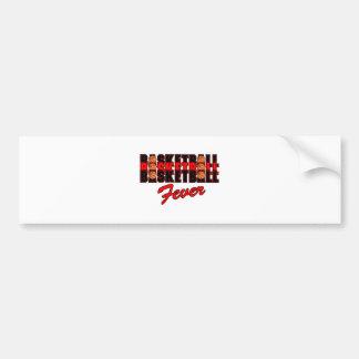 diseño rojo y negro de la fiebre del baloncesto pegatina para auto