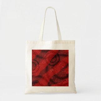 Diseño rojo y negro del punto de los círculos bolsa tela barata