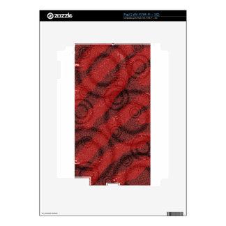 Diseño rojo y negro del punto de los círculos iPad 2 skin