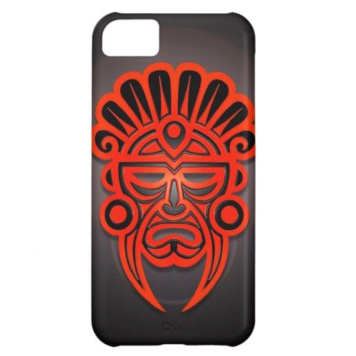 Diseño, rojo y negro mayas de la máscara