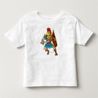 Diseño romano del soldado de la diversión playera de bebé