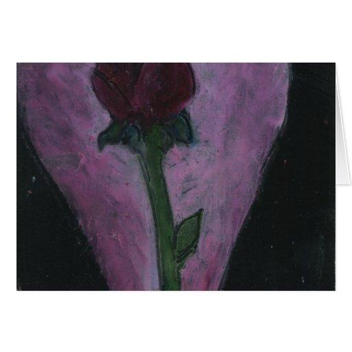 Diseño romántico color de rosa en colores pastel tarjeta de felicitación