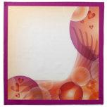 Diseño romántico colorido del corazón y de la burb servilletas de papel