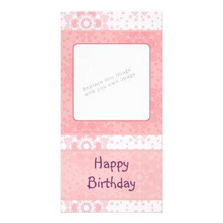 Diseño romántico del corazón tarjeta personal