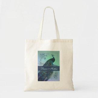Diseño romántico del pavo real del vintage bolsas de mano