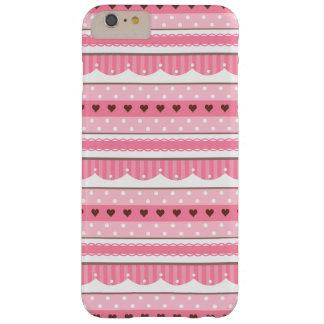 Diseño rosa claro lindo y femenino del modelo funda de iPhone 6 plus barely there