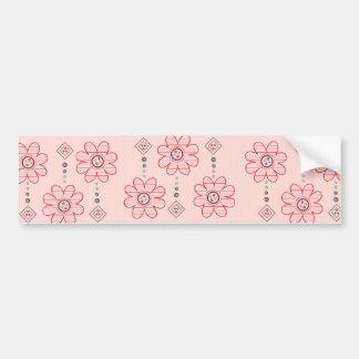 Diseño rosado bonito de las flores de pared pegatina para auto