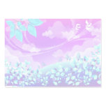 diseño rosado bonito del paisaje de la fantasía tarjetas de visita grandes