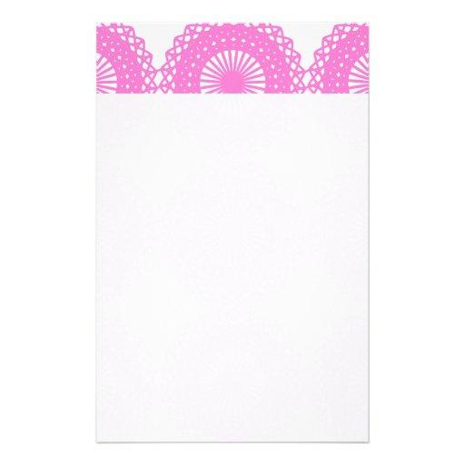 Diseño rosado brillante del modelo del cordón papeleria