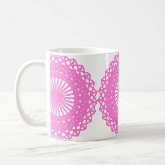 Diseño rosado brillante del modelo del cordón taza
