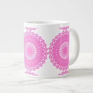 Diseño rosado brillante del modelo del cordón taza jumbo
