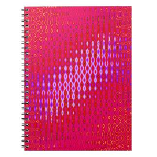 Diseño rosado brillante del modelo notebook