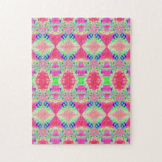 diseño rosado colorido puzzles