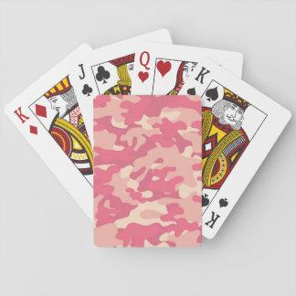 Diseño rosado de Camo Baraja De Cartas