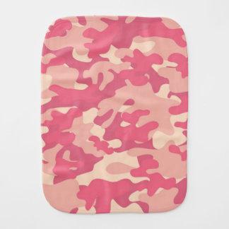 Diseño rosado de Camo Paños De Bebé