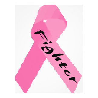 """Diseño rosado de la cinta del """"combatiente"""" folleto 8.5"""" x 11"""""""