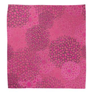 Diseño rosado de la explosión de la flor bandanas