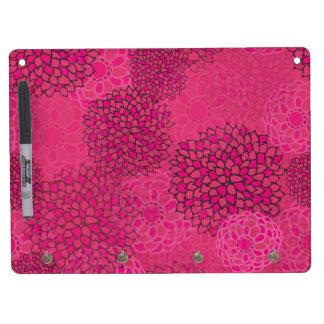 Diseño rosado de la explosión de la flor tableros blancos