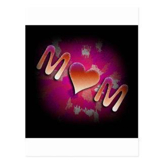 Diseño rosado de la mamá postales
