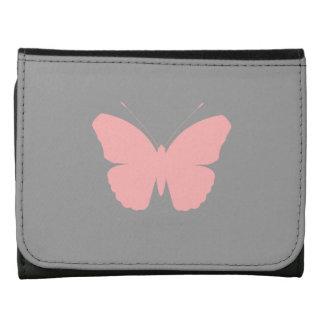 Diseño rosado de la silueta de la mariposa