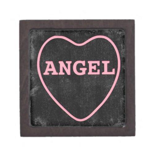 Diseño rosado de la tarjeta del día de San Valentí Caja De Recuerdo De Calidad