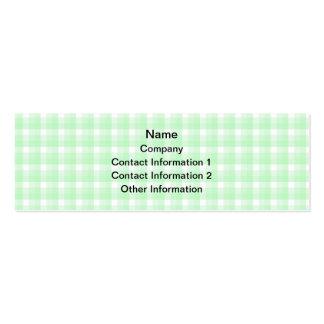Diseño rosado de la tetera en control verde tarjetas de visita mini