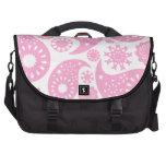 Diseño rosado de Paisley Bolsas Para Portatil