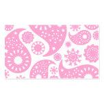 Diseño rosado de Paisley Plantillas De Tarjetas De Visita