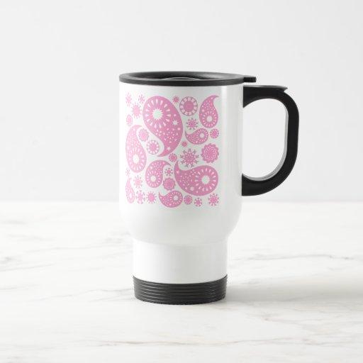 Diseño rosado de Paisley Taza
