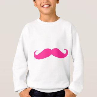Diseño rosado de Stache del bigote Sudadera