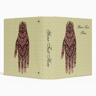 "Diseño rosado del arte del tatuaje de la mano de carpeta 1 1/2"""