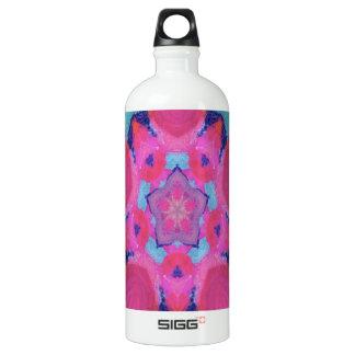 Diseño rosado del caleidoscopio de la estrella botella de agua