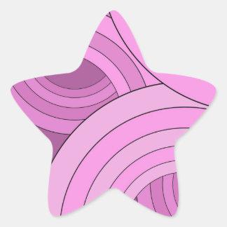 Diseño rosado del círculo colcomanias forma de estrella