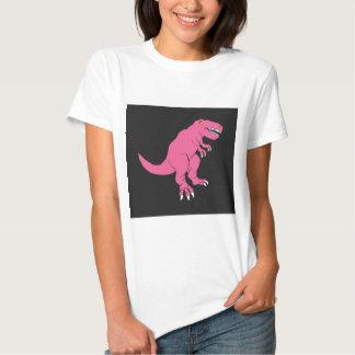 Diseño rosado del dinosaurio de T-Rex Polera