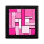 Diseño rosado del entarimado caja de regalo