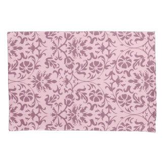 Diseño rosado del estampado de flores del damasco funda de cojín