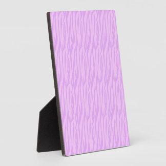 Diseño rosado del estampado de zebra de DIY su pro Placas Con Fotos