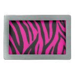 Diseño rosado del estampado de zebra hebillas cinturon