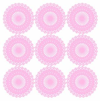 Diseño rosado del estilo del cordón fotoescultura vertical