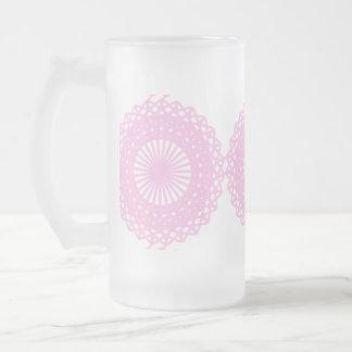 Diseño rosado del estilo del cordón jarra de cerveza esmerilada