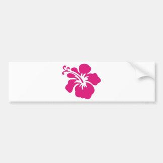 Diseño rosado del hibisco pegatina para auto
