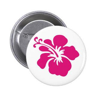 Diseño rosado del hibisco pin