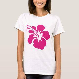 Diseño rosado del hibisco playera